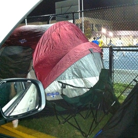 Tent city is For die hard UK fans