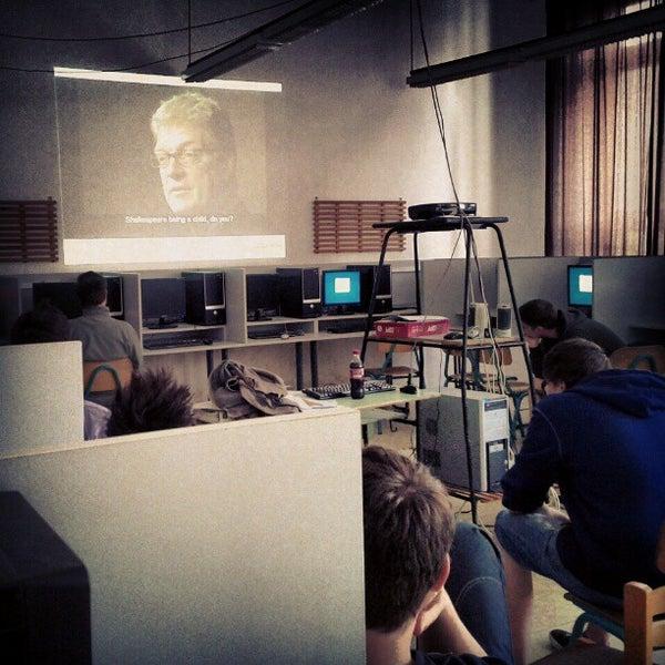 Photo taken at Budai Középiskola by Balazs K. on 4/11/2012