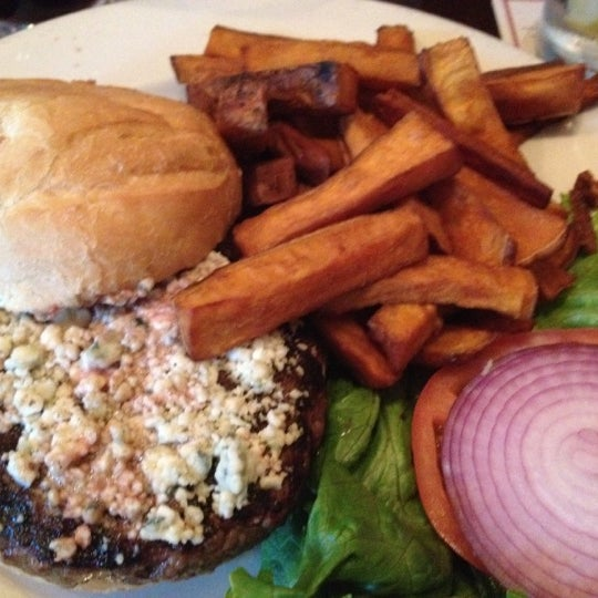 Don't miss their specialty — the Hill Tavern burger. Get it with blue cheese and sweet potato fries