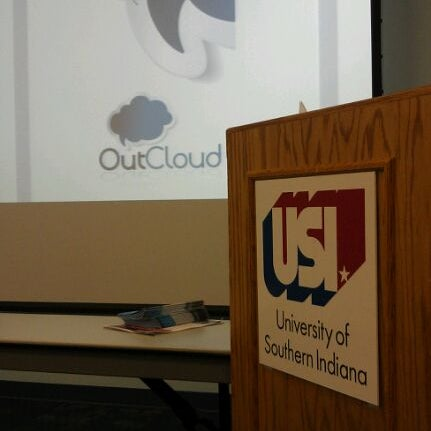 Photo taken at University of Southern Indiana by Dana N. on 5/9/2012