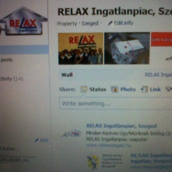 Photo taken at RELAX Ingatlanpiac, Szeged by Kamillo M. on 1/7/2012