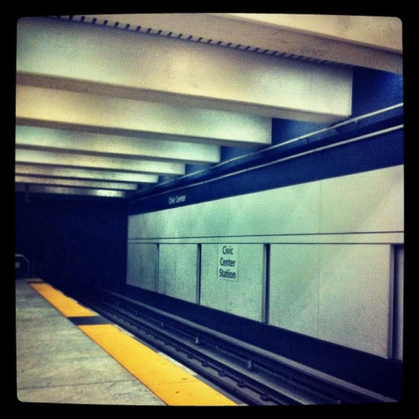 Photo taken at Civic Center/UN Plaza BART Station by Evangeline B. on 10/14/2011