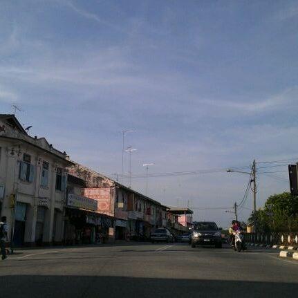 Photo taken at Pekan Merlimau by Suria Kencana H. on 1/1/2012