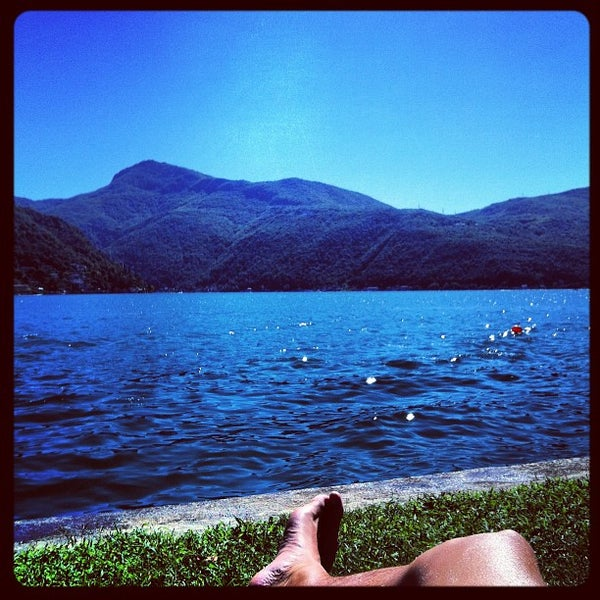 Photo taken at Lago di Lugano by Patrick T. on 8/26/2012