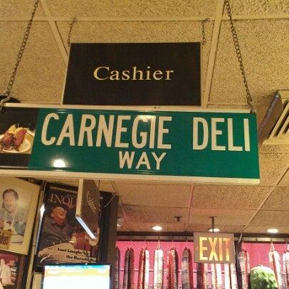 Photo taken at Carnegie Deli by David K. on 9/13/2012