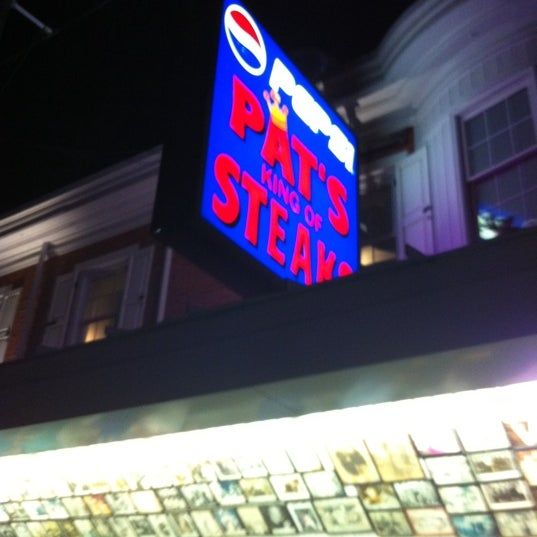 Photo taken at Pat's King of Steaks by Cory J on 7/10/2011