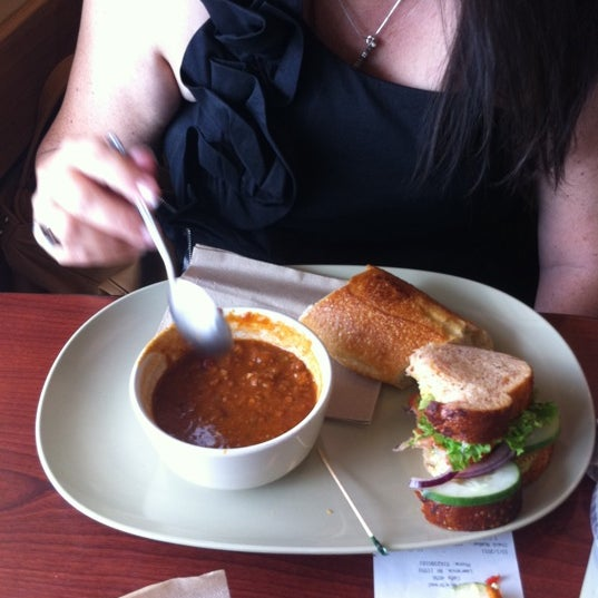 Photo taken at Panera Bread by Brianna D. on 10/1/2011