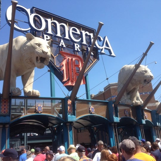 Photo taken at Comerica Park by Evelyn C. on 8/23/2012