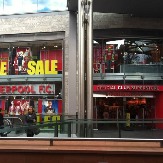 Photo taken at Liverpool FC Official Club Store by Vincent C. on 4/30/2012