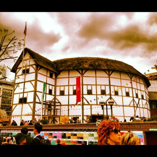 Photo taken at Shakespeare's Globe Theatre by Fiona A. on 6/1/2012