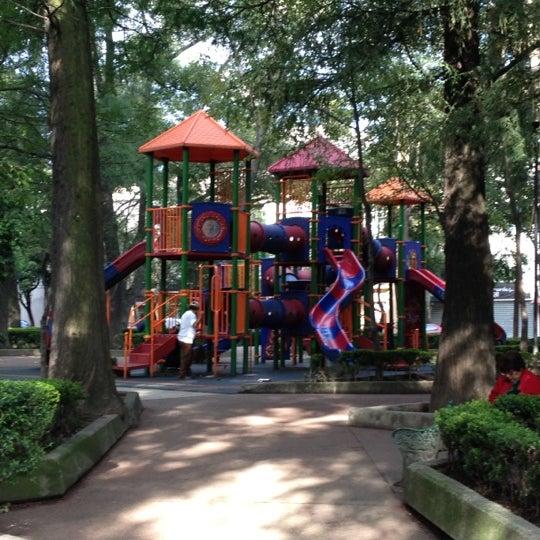 Photo taken at Jardin Morelos by Clausen on 8/15/2012