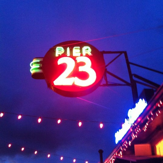 Photo taken at Pier 23 Cafe by Ryan R. on 3/26/2012