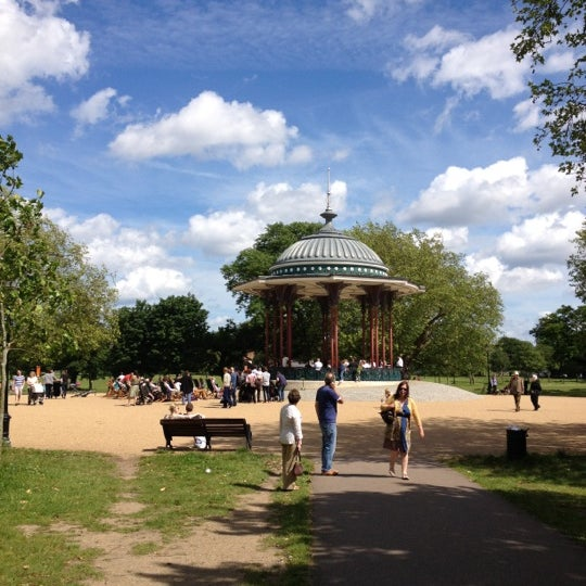 Photo taken at Clapham Common by Hollie H. on 6/17/2012