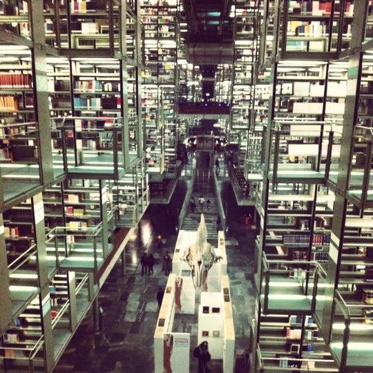 Photo taken at Biblioteca Vasconcelos by La Muñe on 4/1/2012
