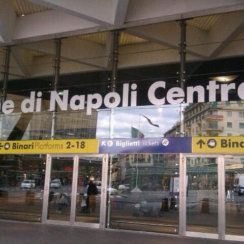 Photo taken at Napoli Centrale Railway Station (INP) by Cary on 1/14/2012