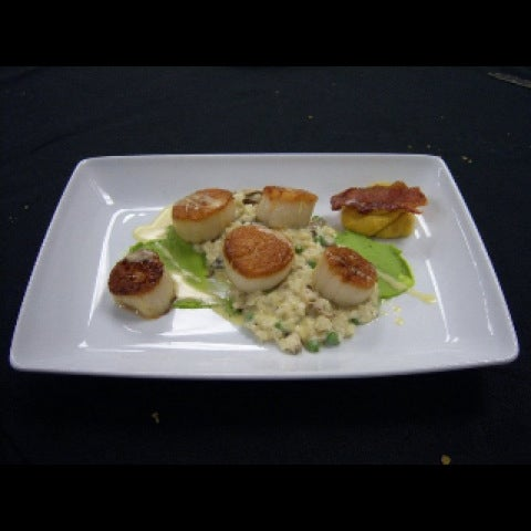 Amazing food! My personal favorite Scallops with Risotto