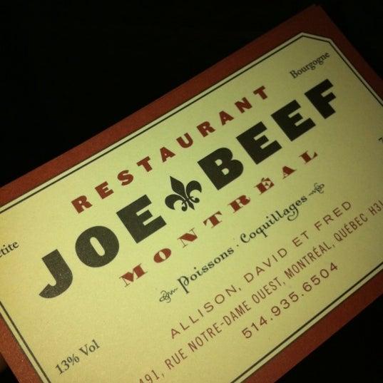 Photo taken at Joe Beef by Carlos G. on 12/17/2011