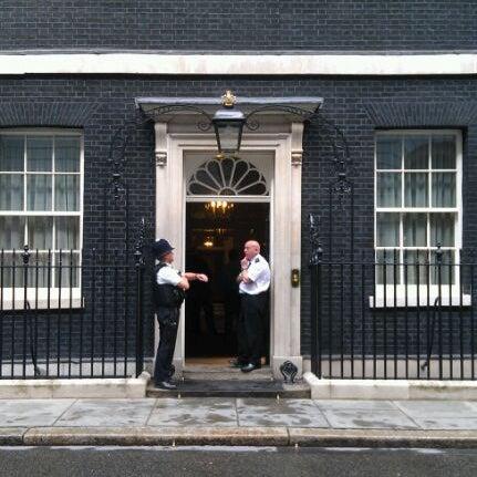 Photo taken at 10 Downing Street by Jon S. on 8/25/2011