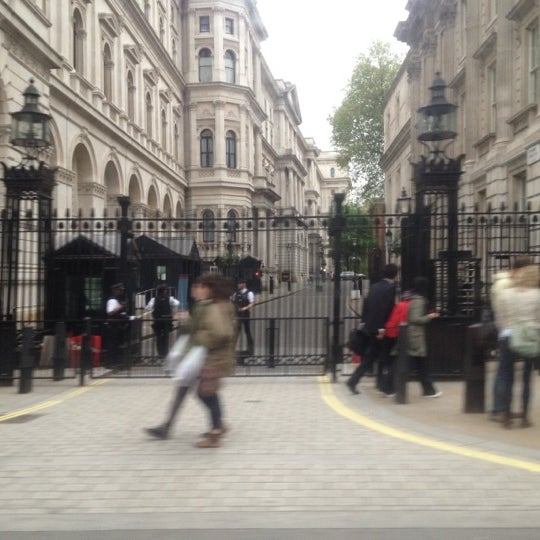 Photo taken at 10 Downing Street by Gene on 5/18/2012