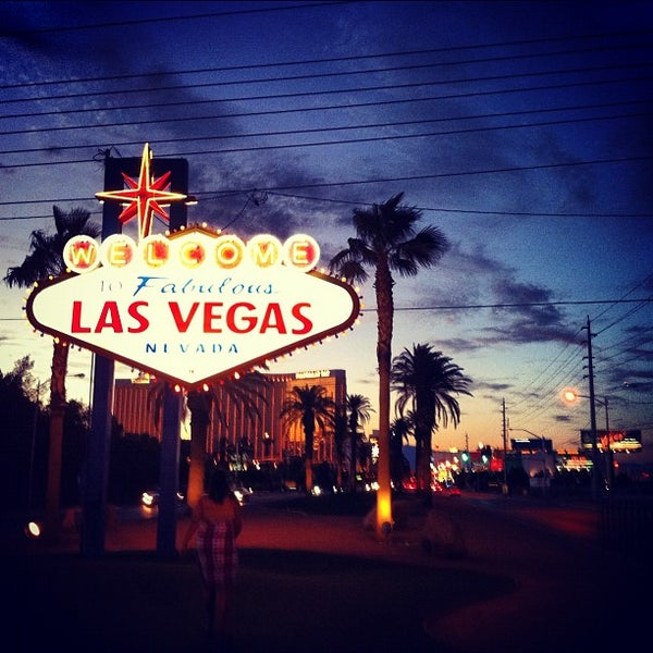 Photo taken at Welcome To Fabulous Las Vegas Sign by Ron L. on 7/26/2012