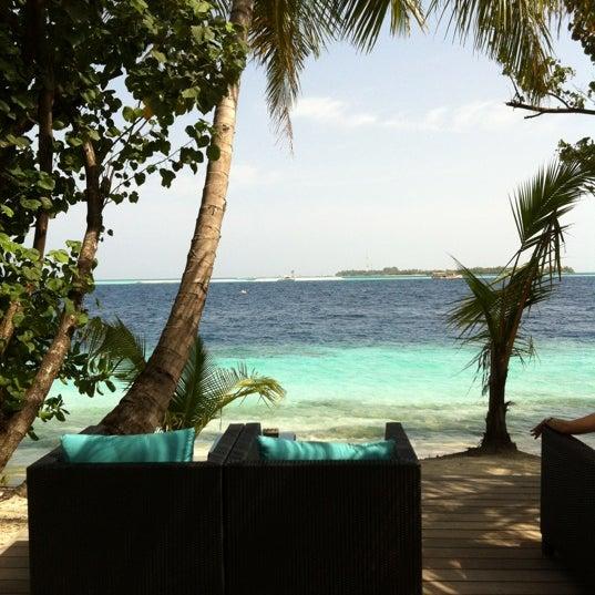 Photo taken at Vilamendhoo Island Resort & Spa by John L. on 4/26/2012