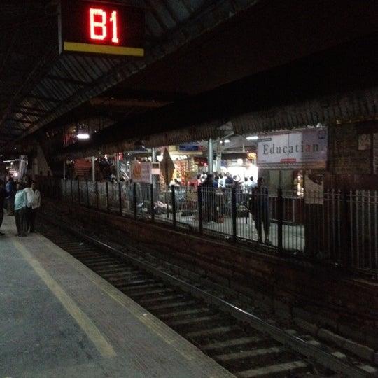 Photo taken at Dadar Railway Station by Aakash K. on 1/25/2012