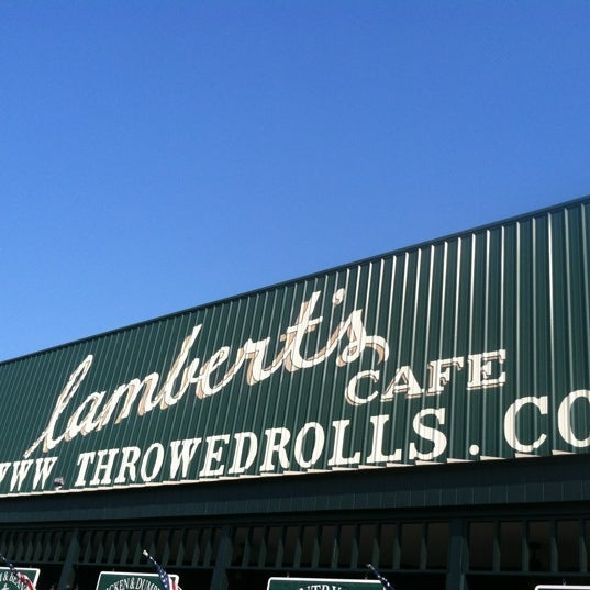 Photo taken at Lambert's Cafe by Clinton E. on 6/30/2012