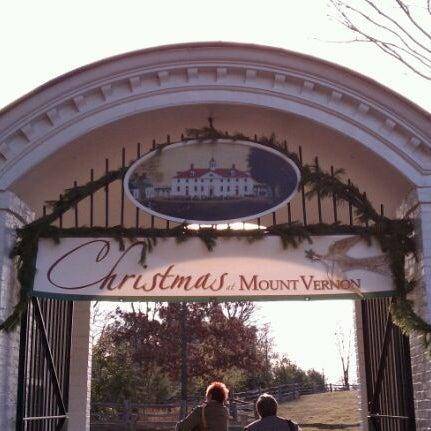 Photo taken at George Washington's Mount Vernon by Rob S. on 12/3/2011