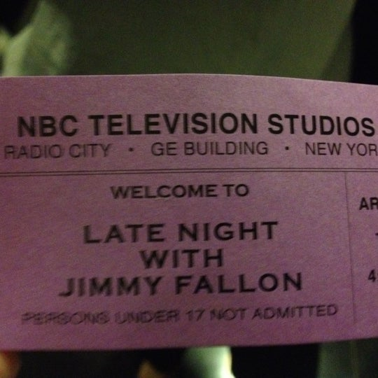 Photo taken at Late Night with Jimmy Fallon by Danielle F. on 9/4/2012