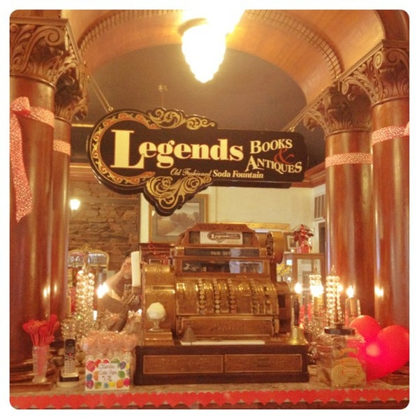 Legends books antiques old fashioned soda fountain for Old fashioned ice cream soda fountain