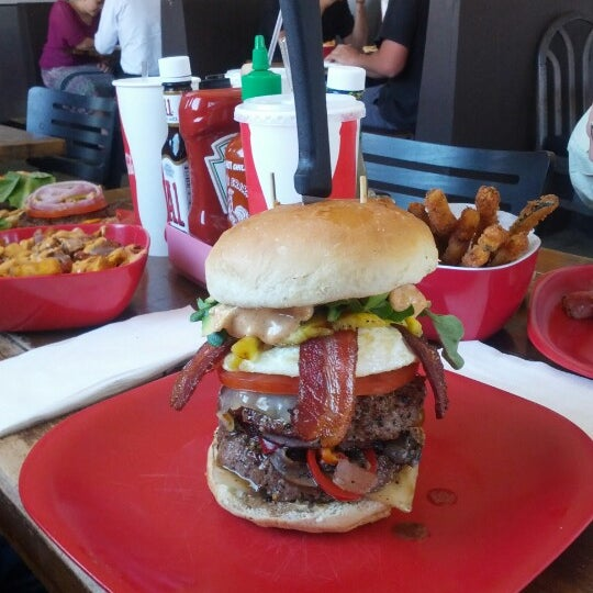 Photo taken at G Burger by Adam H. on 6/25/2012