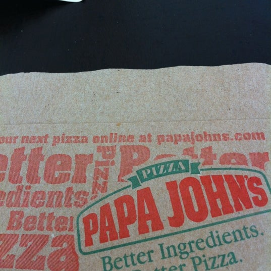 Photo taken at Papa John's by Daniela G. on 8/23/2012