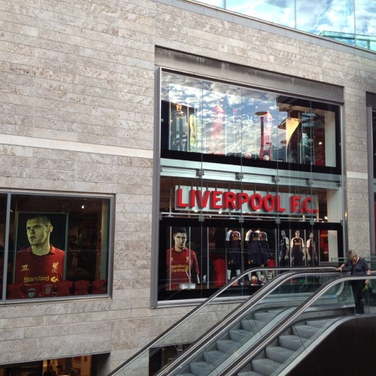 Photo taken at Liverpool FC Official Club Store by Yossawat M. on 9/1/2012