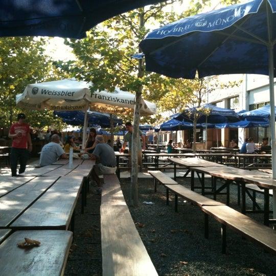 Photo taken at Zeppelin Hall Biergarten by Mike L. on 8/31/2012