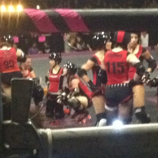 Photo taken at Doll Factory (L.A. Derby Dolls) by Robert B. on 8/19/2012