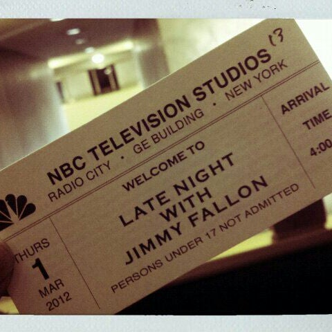 Photo taken at Late Night with Jimmy Fallon by Stephanie m. on 3/1/2012