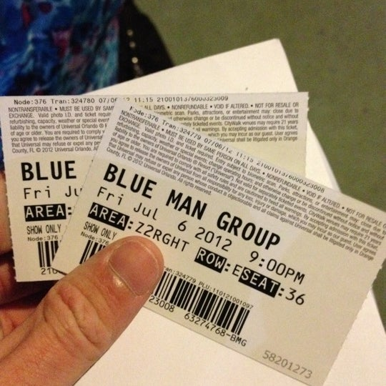 Photo taken at Blue Man Group at Universal CityWalk by Chad B. on 7/7/2012