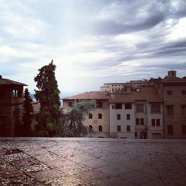 Photo taken at Basilica di San Fortunato by Lorena D. on 4/30/2012