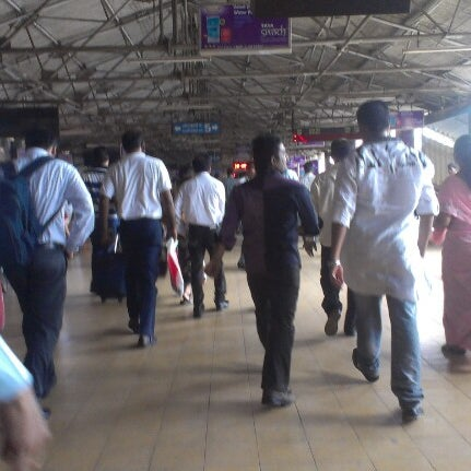 Photo taken at Dadar Railway Station by Cliffton F. on 7/1/2012