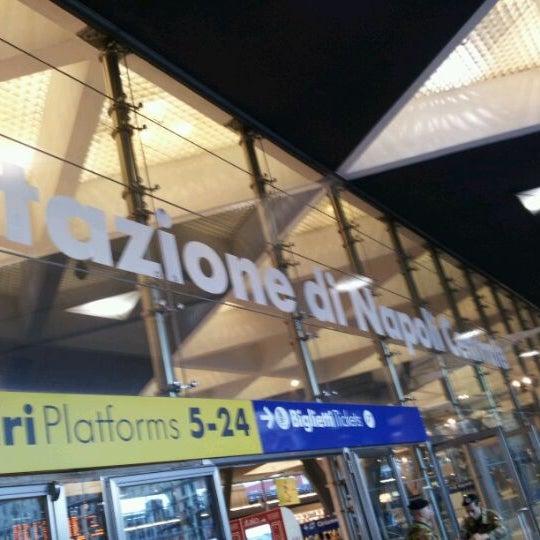 Photo taken at Napoli Centrale Railway Station (INP) by Roberto V. on 4/28/2012