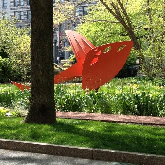 Photo taken at Sculpture Garden - Art Institute of Chicago by K.C. S. on 4/24/2012