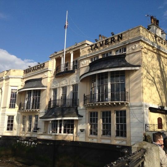 Photo taken at Trafalgar Tavern by Tony P. on 4/21/2012