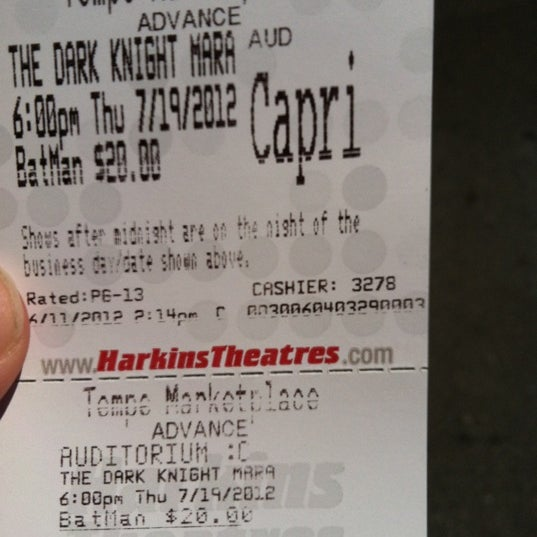 Photo taken at Harkins Theatres Tempe Marketplace 16 by Aaron S. on 6/11/2012