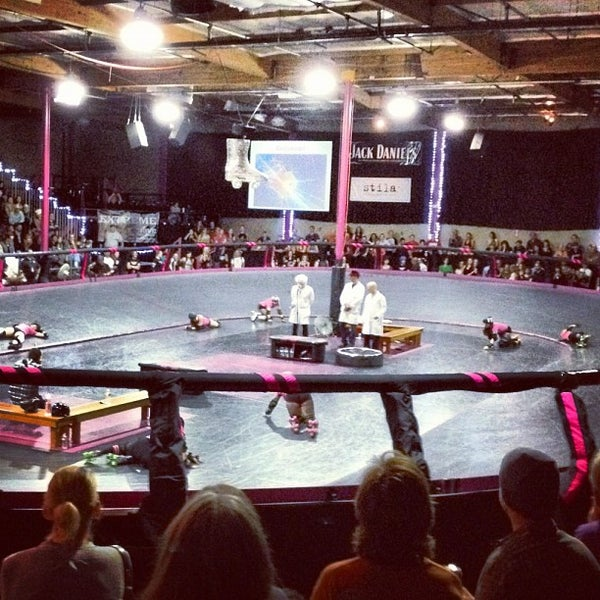 Photo taken at Doll Factory (L.A. Derby Dolls) by Jory F. on 7/8/2012