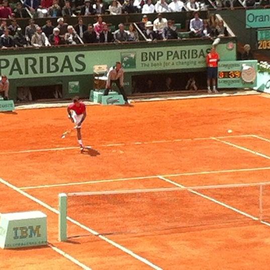 Photo taken at Stade Roland Garros by Jim B. on 6/12/2012