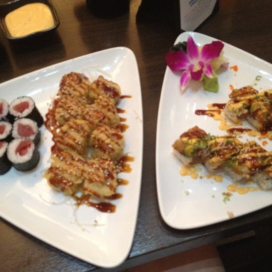 Photo taken at Blu Sushi by Nicole H. on 7/9/2012