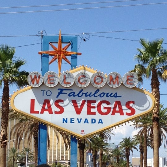 Photo taken at Welcome To Fabulous Las Vegas Sign by Richard R. on 8/11/2012