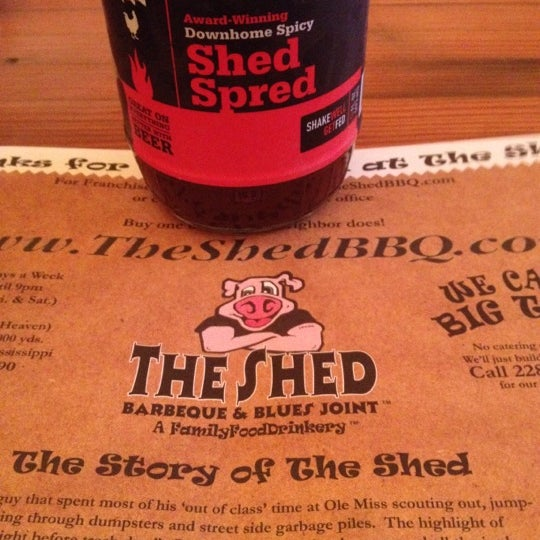 Photo taken at The Shed Barbeque and Blues Joint by Amy C. on 6/30/2012