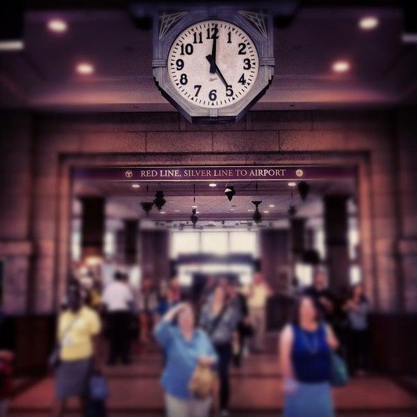 Photo taken at South Station Terminal (MBTA / Amtrak) by Kevlar on 8/23/2012