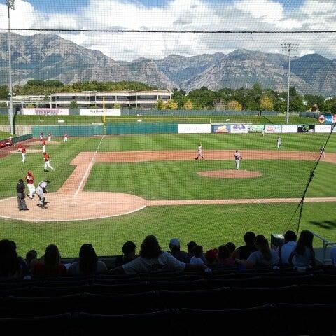 Photo taken at Brent Brown Ballpark by Jacob J. on 7/22/2012